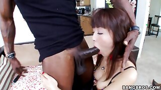 Petite Asian gal Marica Hase fucked by louring man